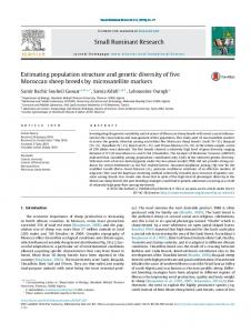 Estimating population structure and genetic diversity of five Moroccan ...