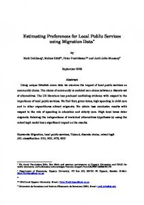 Estimating Preferences for Local Public Services using ... - Dialnet