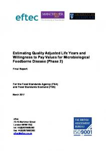 Estimating Quality Adjusted Life Years and Willingness to Pay Values ...
