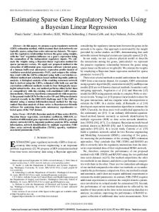 Estimating Sparse Gene Regulatory Networks Using a Bayesian ...
