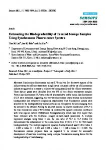 Estimating the Biodegradability of Treated Sewage Samples ... - MDPI