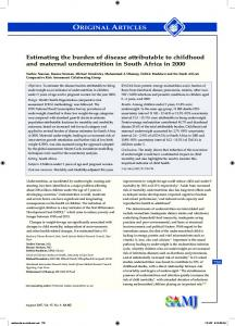 Estimating the burden of disease attributable to childhood and ...