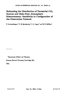 Estimating the Distribution of Terrestrial CO2 Sources and Sinks from ...