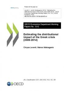Estimating the distributional impact of the Greek crisis - OECD iLibrary