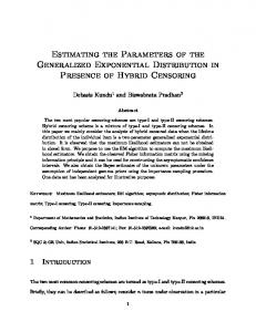 Estimating the Parameters of the Generalized Exponential Distribution ...