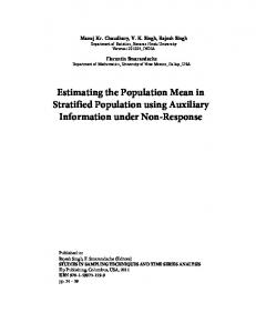 Estimating the Population Mean in Stratified Population