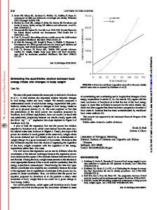Estimating the quantitative relation between food energy intake and ...