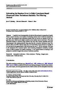Estimating the Random Error in Eddy-Covariance Based Fluxes and ...