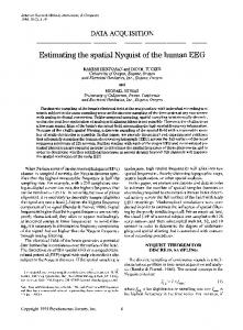 Estimating the spatial Nyquist of the human EEG - Springer Link