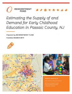 Estimating the Supply of and Demand for Early ... - Reinvestment Fund