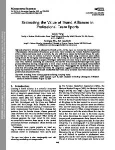 Estimating the Value of Brand Alliances in Professional Team Sports
