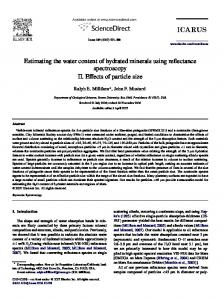Estimating the water content of hydrated minerals ... - Semantic Scholar