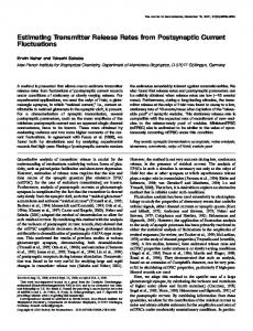 Estimating Transmitter Release Rates from ... - Semantic Scholar