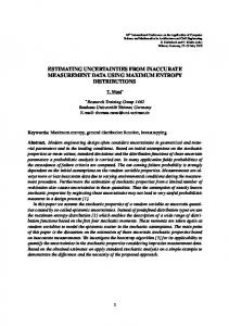 estimating uncertainties from inaccurate ...