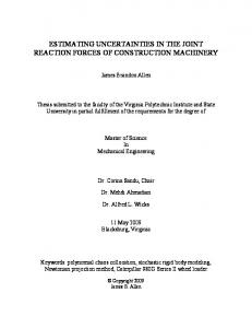 estimating uncertainties in the joint reaction forces of construction ...