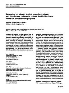 Estimating vertebrate, benthic macroinvertebrate, and diatom taxa ...