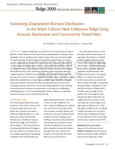 estimating Zooplankton Biomass distribution in the ...