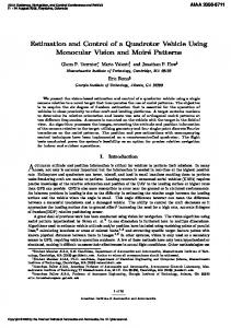 Estimation and Control of a Quadrotor Vehicle Using Monocular Vision ...
