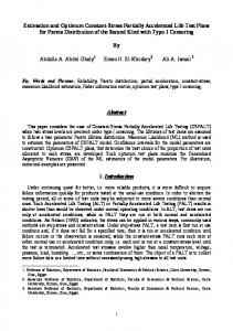 Estimation and Optimum Constant-Stress Partially ... - InterStat