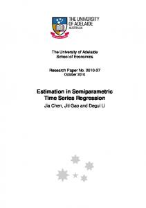Estimation in Semiparametric Time Series