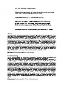 Estimation of Additive and Non-Additive Genetic Variances of Body ...