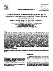 Estimation of biogenic emissions with satellite-derived land use and ...