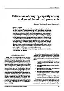 Estimation of carrying capacity of slag and gravel ... - Semantic Scholar