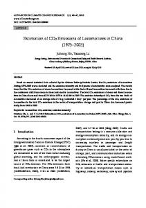 Estimation of CO2 Emissions of Locomotives in China (1975-2005)