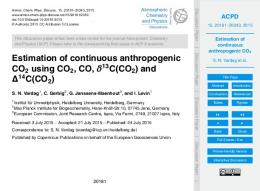 Estimation of continuous anthropogenic CO2 - MPG.PuRe