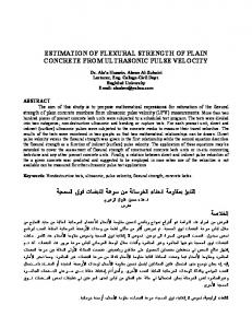estimation of flexural strength of plain concrete from ...