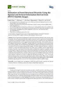 Estimation of Forest Structural Diversity Using the Spectral - MDPI