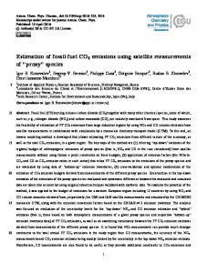 Estimation of fossil-fuel CO2 emissions using satellite measurements ...