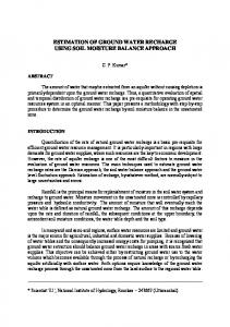 estimation of ground water recharge using soil moisture ... - Angelfire