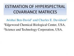 estimation of hyperspectral covariance matrices - IEEE GRSS