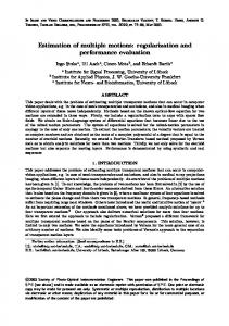 Estimation of multiple motions: regularization and performance ...