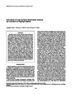 Estimation of near-surface shear-wave velocity by ... - MASW.com