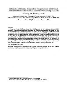 Estimation of Possibly Misspecified Semiparametric ... - Yale Economics