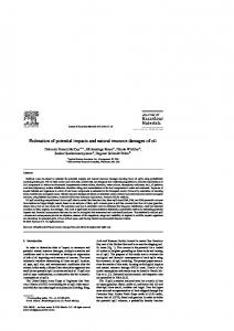 Estimation of potential impacts and natural resource ... - CiteSeerX