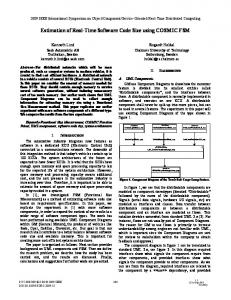 Estimation of Real-Time Software Code Size using ... - IEEE Xplore
