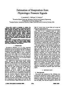 Estimation of Respiration from Physiologic ... - Semantic Scholar