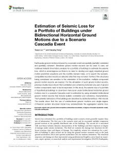 Estimation of Seismic Loss for a Portfolio of Buildings under ...
