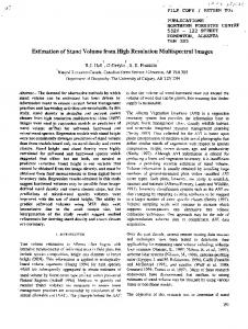 Estimation of Stand Volume from High Resolution Multispectral Images