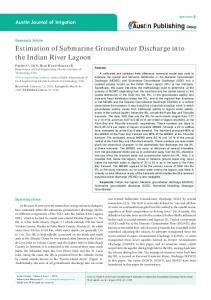 Estimation of Submarine Groundwater Discharge into ...