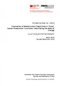 Estimation of Substitution Elasticities in Three- Factor ... - SSRN papers