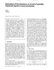 Estimation of the directions of arrival of spatially ... - IEEE Xplore