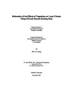 Estimation of the Effects of Vegetation on Local Climate ... - CiteSeerX