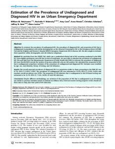 Estimation of the Prevalence of Undiagnosed and ... - Semantic Scholar