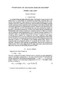 ESTIMATION OF TRANSLOG DEMAND ... - Wiley Online Library