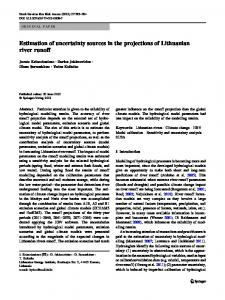 Estimation of uncertainty sources in the projections of ... - Springer Link