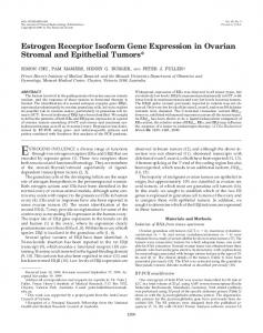 Estrogen Receptor Isoform Gene Expression in Ovarian Stromal and ...